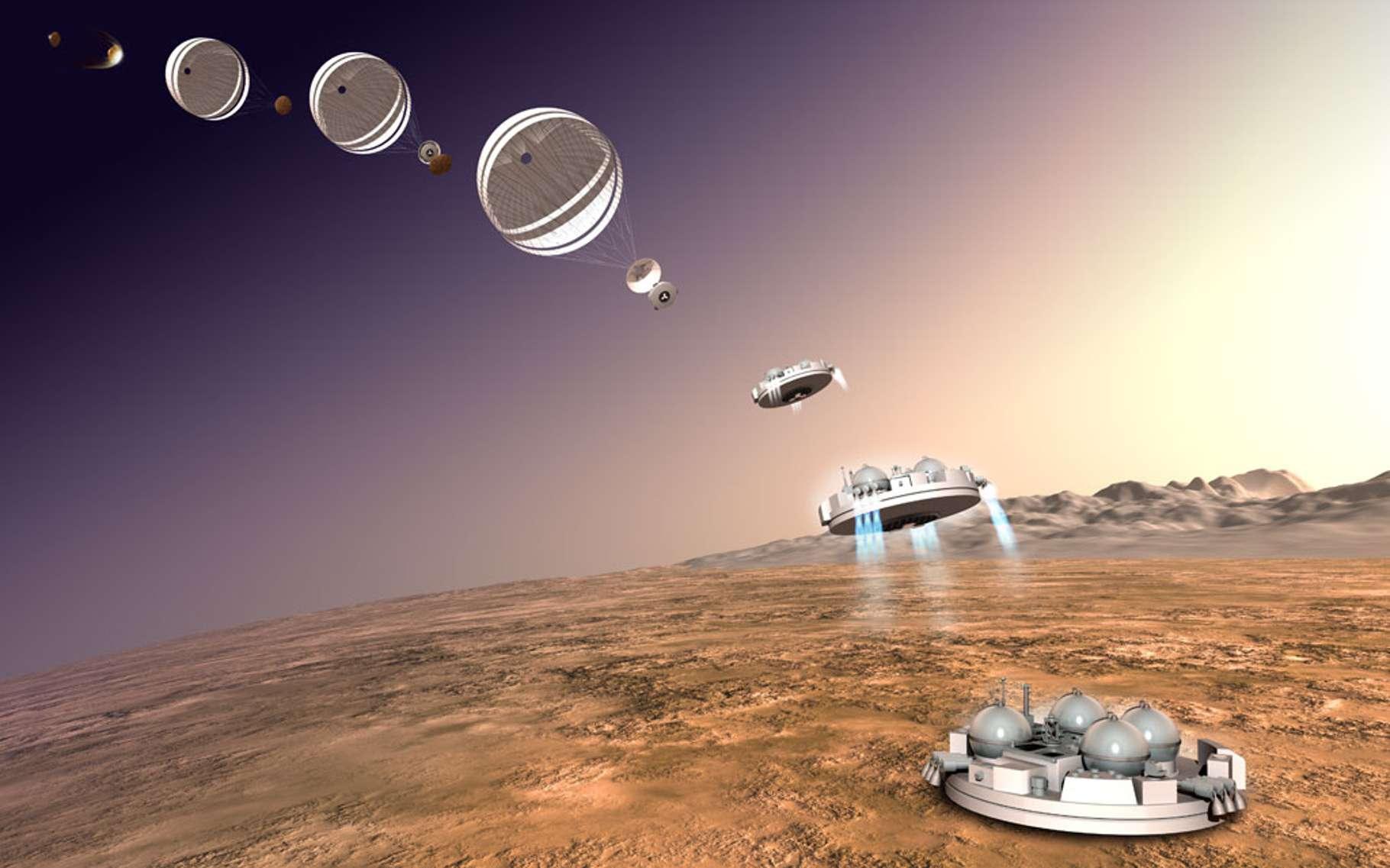 La descente de Schiaparelli sur la planète Mars aura lieu ce mercredi 19 octobre 2016. © ESA