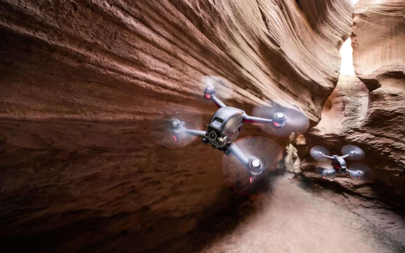Avec son allure de racer, le DJI FPV est également un drone de loisir doué pour la prise de vue. © DJI