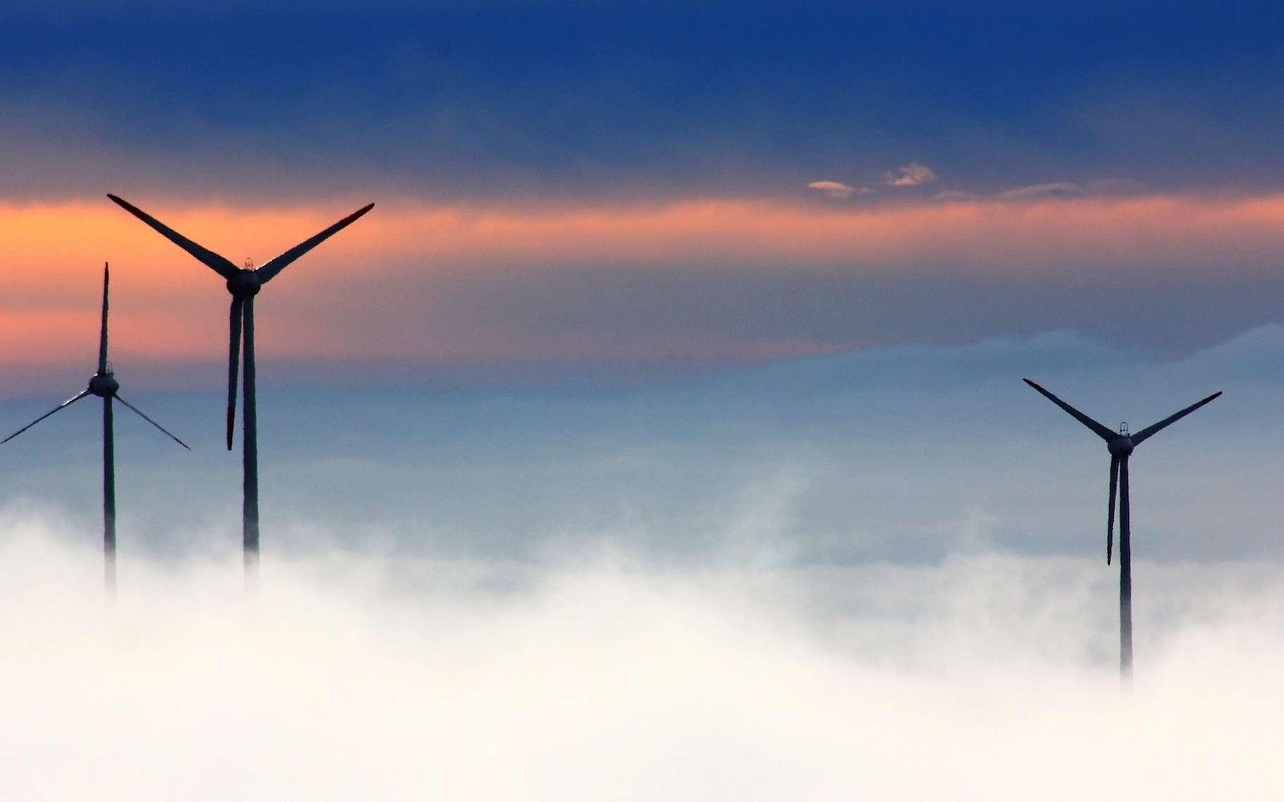 Une éolienne, c'est une dizaine de tonnes de matériaux composites par mégawatt, soit 8 % du poids total (hors fondations). © Oimheidi, Pixabay, CC0 Creative Commons