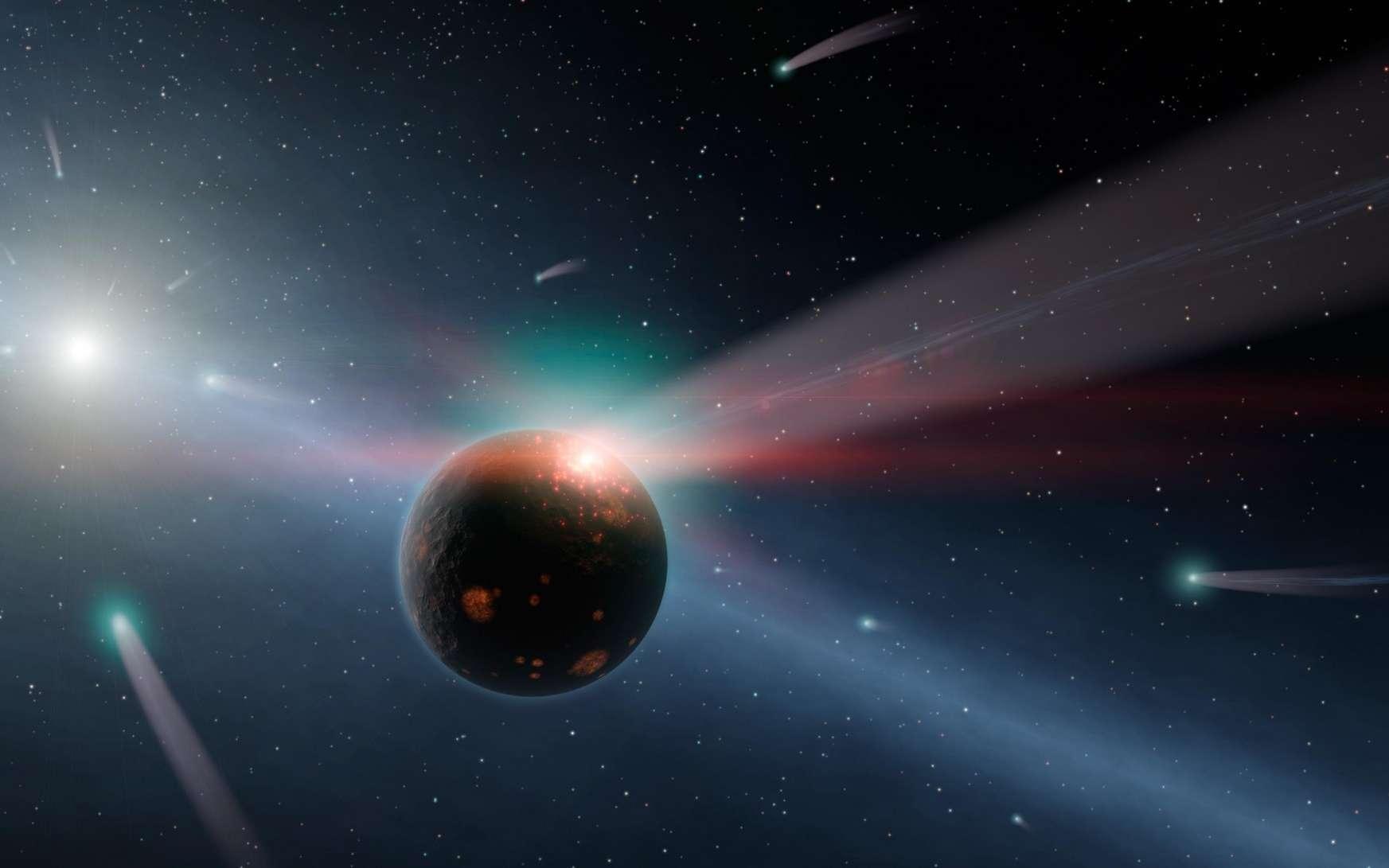 Dans 1,35 million d'années, la Terre et les autres planètes du Système solaire devront faire face à un déluge de comètes inédit. © Nasa, JPL-Caltech