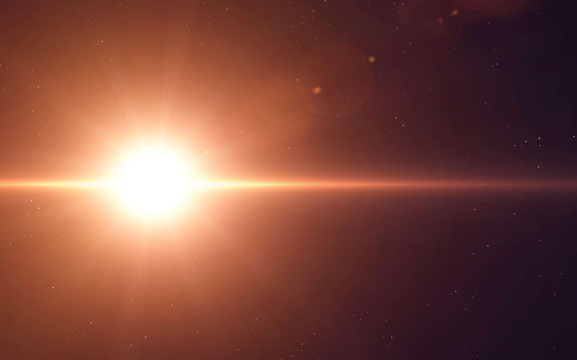 Les astronomes attendaient avec impatience la fin du cycle principal de 430 jours de variation de luminosité de Bételgeuse pour savoir comment la supergéante rouge se comporterait ensuite. Il semble qu'elle soit en train de regagner en éclat. © Vadimsadovski, Adobe Stock