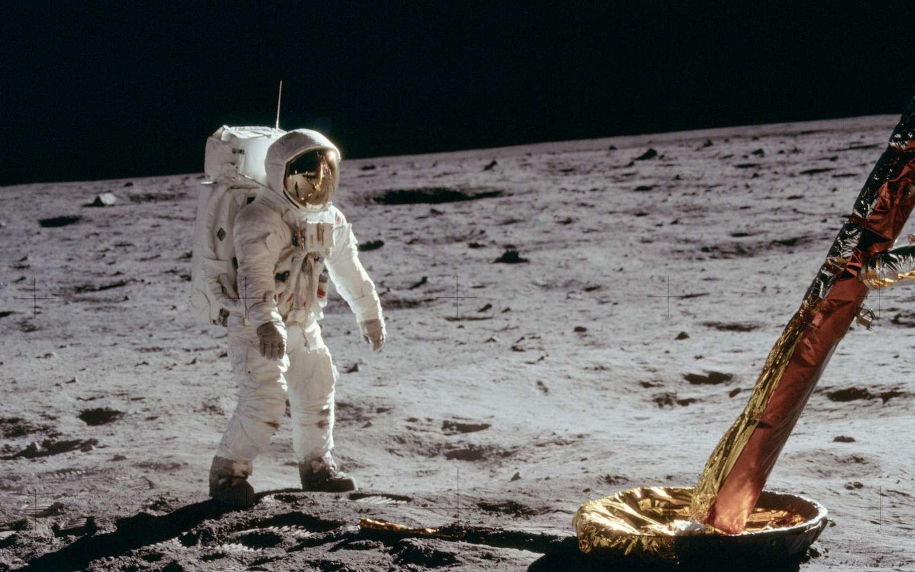 Buzz Aldrin le 21 juillet 1969, photographié par Neil Armstrong. © Nasa