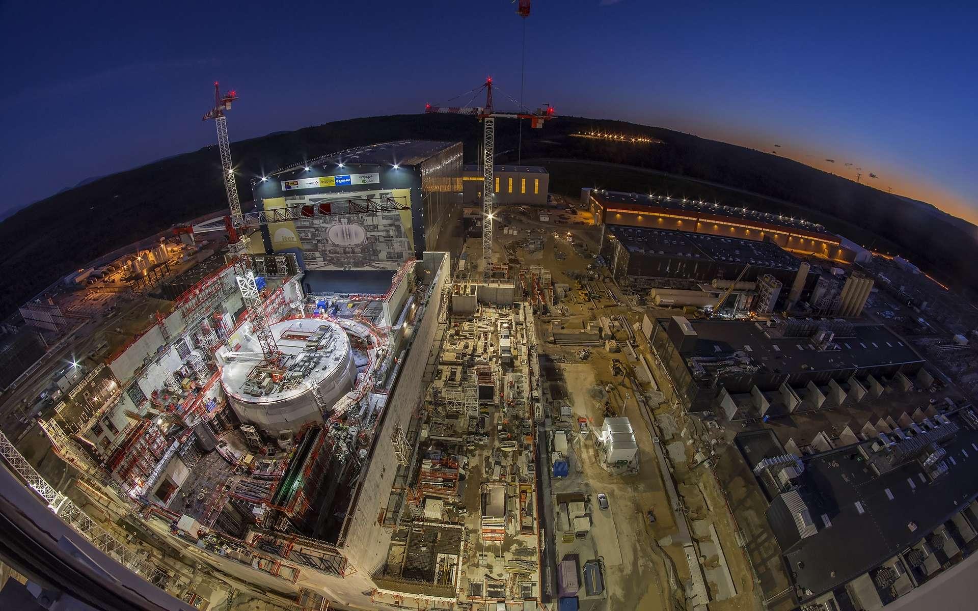 Une vue du chantier d'Iter en décembre 2018. © Iterorganization
