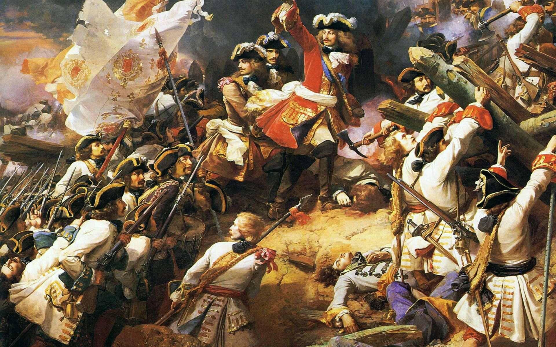 Le Maréchal de Villars, lors la bataille de Denain pendant la Guerre de succession d'Espagne (1712). © Peinture de Jean Alaux. Musée de Château de Versailles, Wikimedia Commons, DP