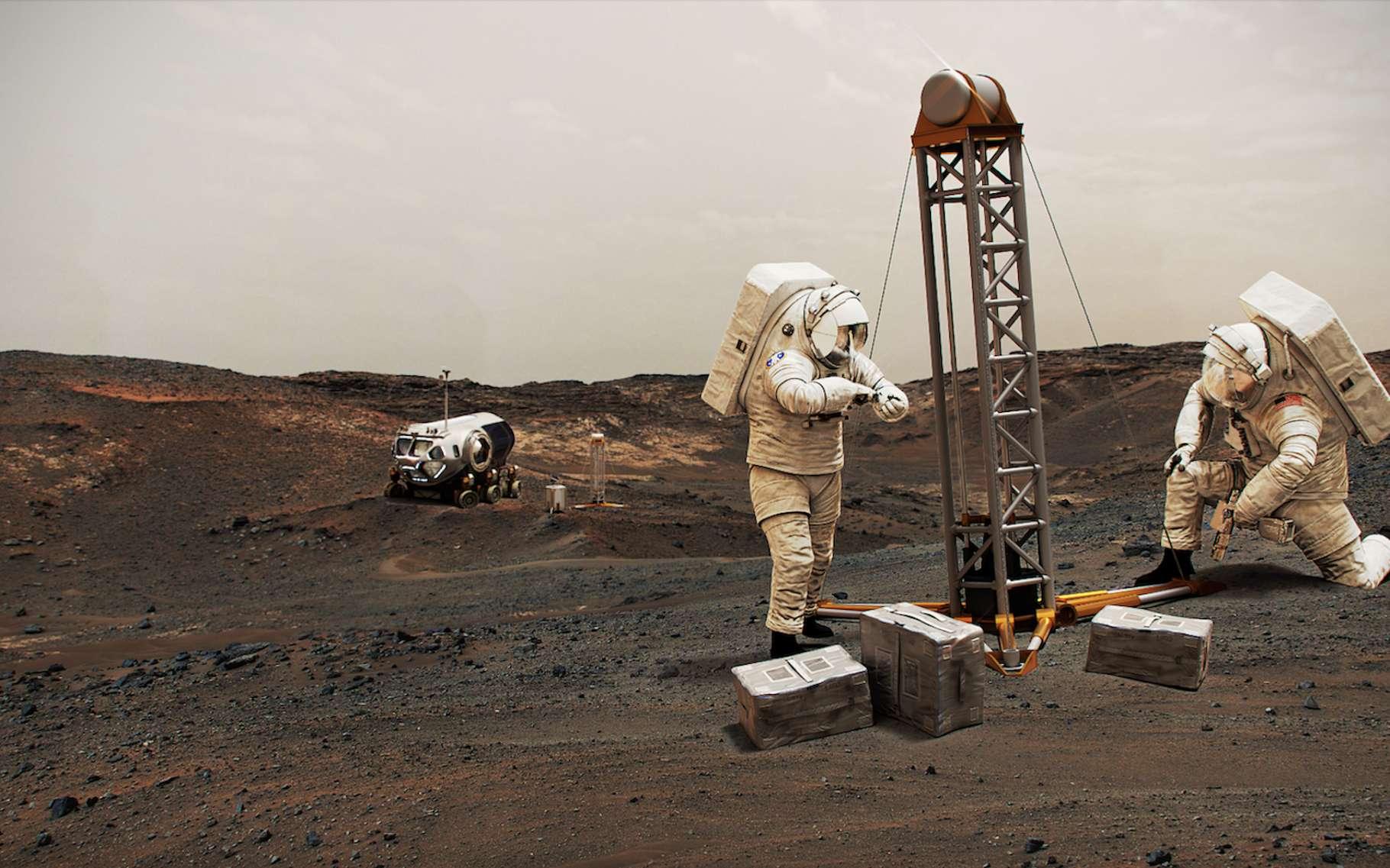 Où s'installeront les premiers colons humains sur Mars ? - Futura