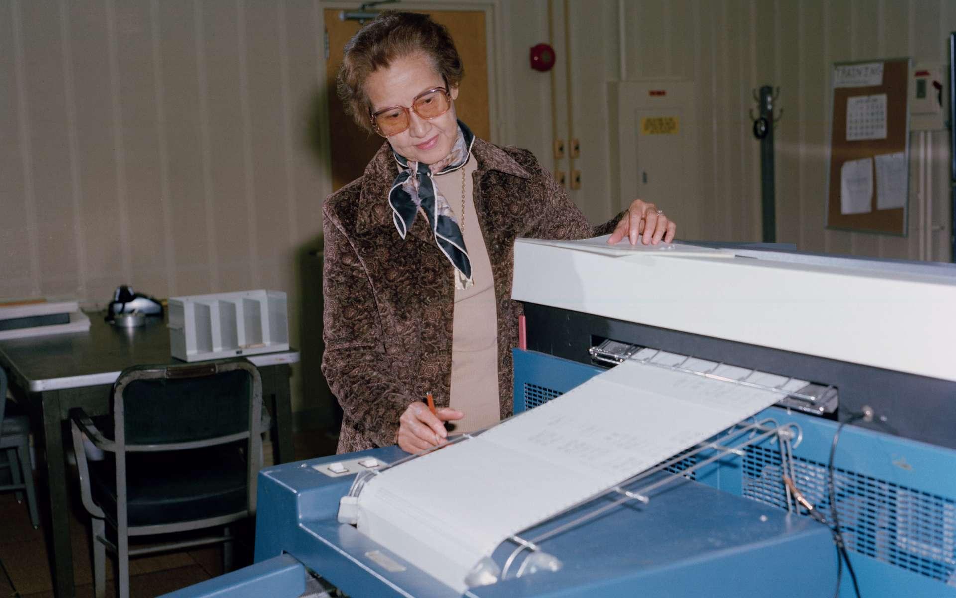 Katherine Johnson au centre de recherche de la Nasa Langley en 1980. © Nasa