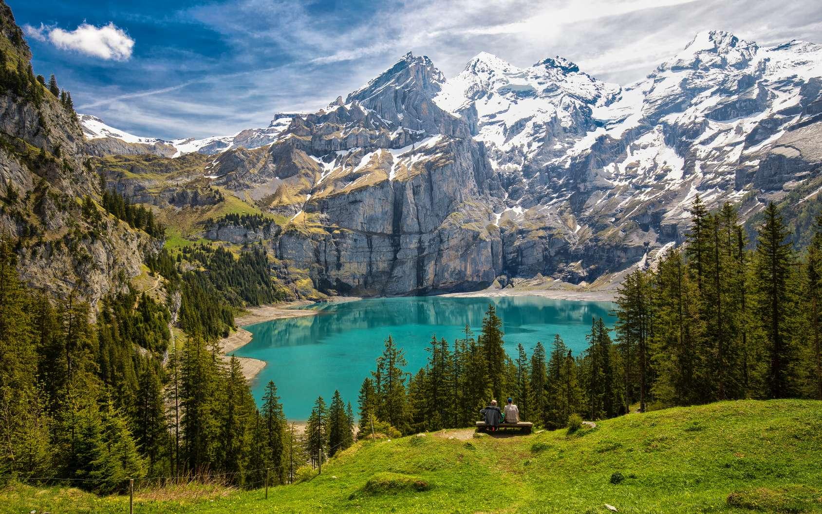 Quelles randonnées faire en Suisse ? Ici, paysage de l'Oberland bernois, en Suisse. © gevisions, Fotolia