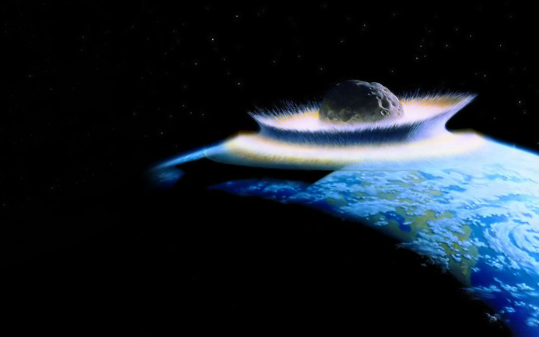 Eros par NEAR. Photos prises à 1800 km de distance en février 2000.