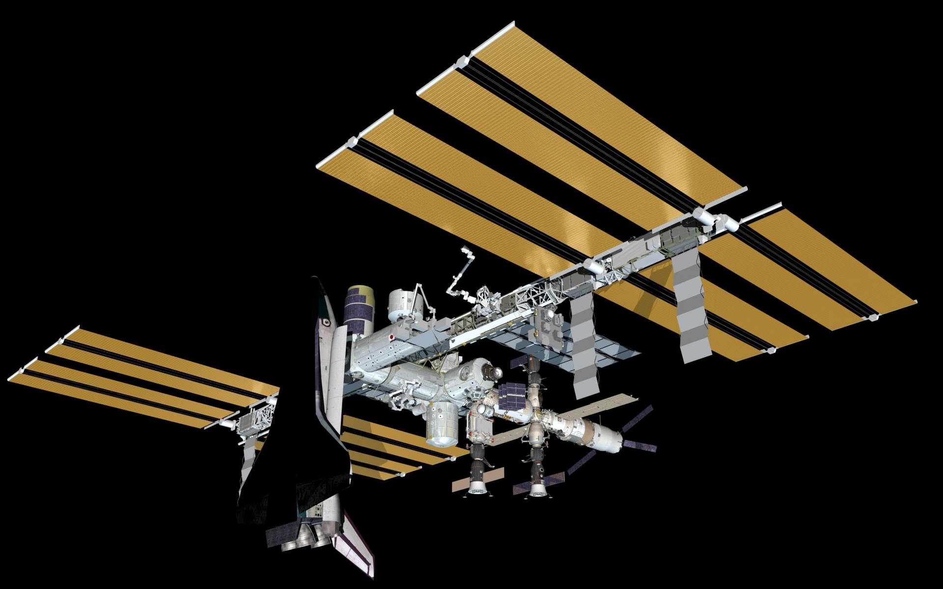 La Nasa veut réaliser une photo de famille sur laquelle seront réunis tous les moyens d'accès à l'ISS. L'image sera symbolique : elle marquera la fin d'une étape d'un programme emblématique à tous les niveaux. Techniquement, c'est un exemple unique d'une fructueuse coopération internationale qui a permis le rapprochement de méthodes de travail et de normes très différentes. © Nasa
