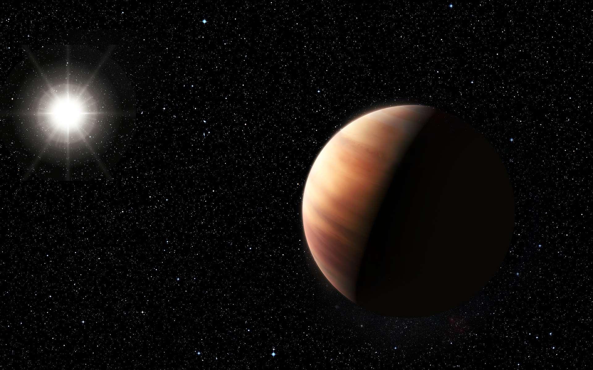 L'effet Doppler permet notamment de détecter des exoplanètes. Grâce à la méthode des vitesses radiales, également appelée spectroscopie Doppler, le télescope Harps, au Chili, a par exemple pu détecter HIP 11915, une planète semblable à Jupiter, ici illustrée. © ESO