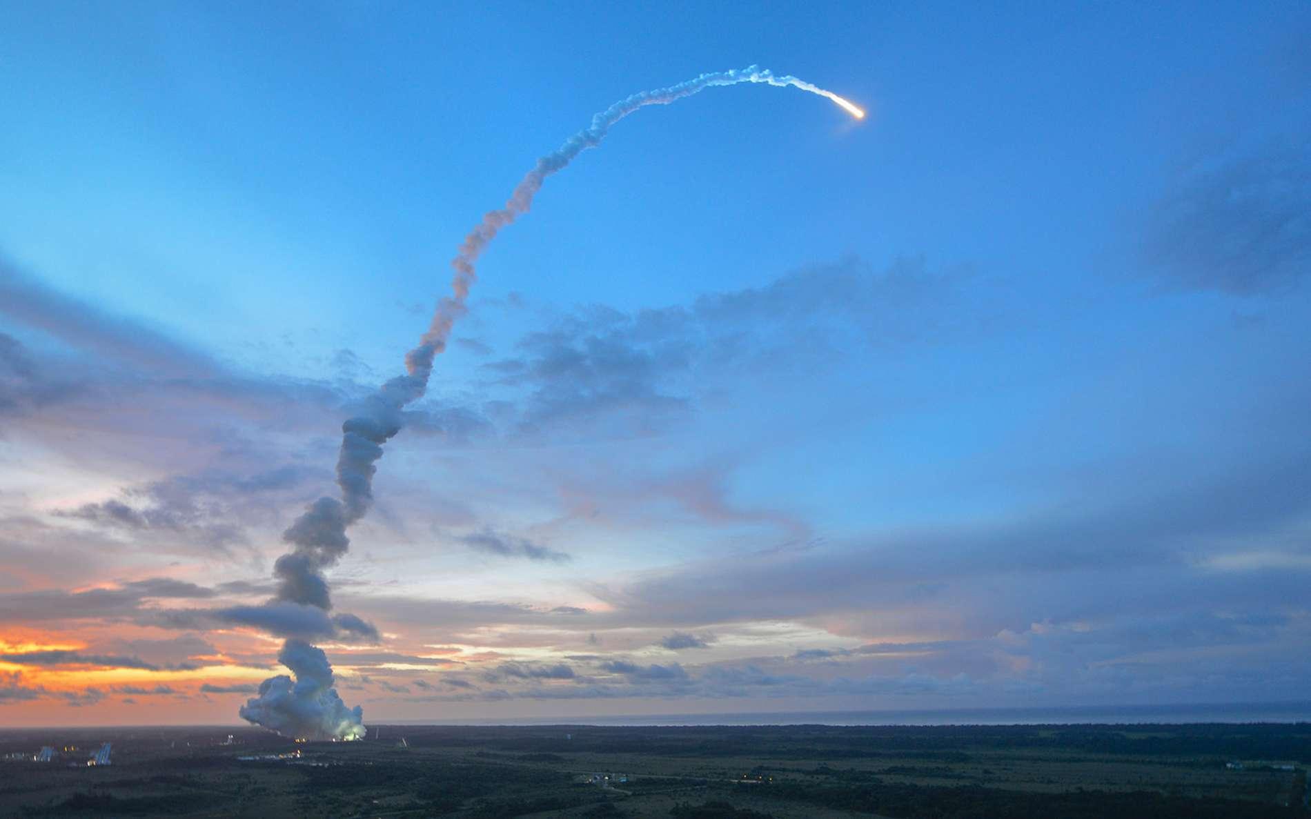 Lancement de l'ATV-4, en juin 2013. © ESA, S. Corvaja