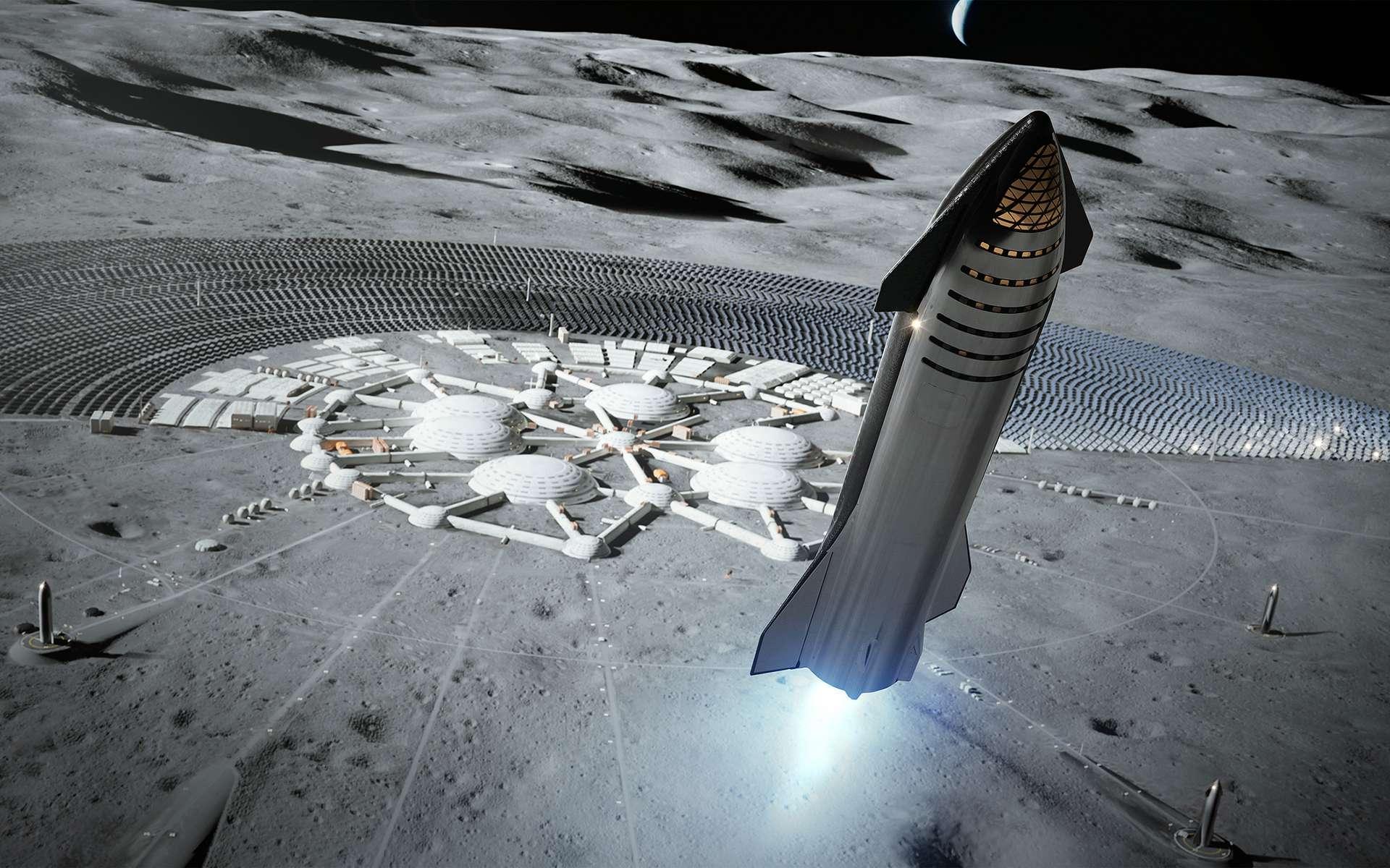 Vue d'artiste du Starship quand il s'appelait BFR. © SpaceX