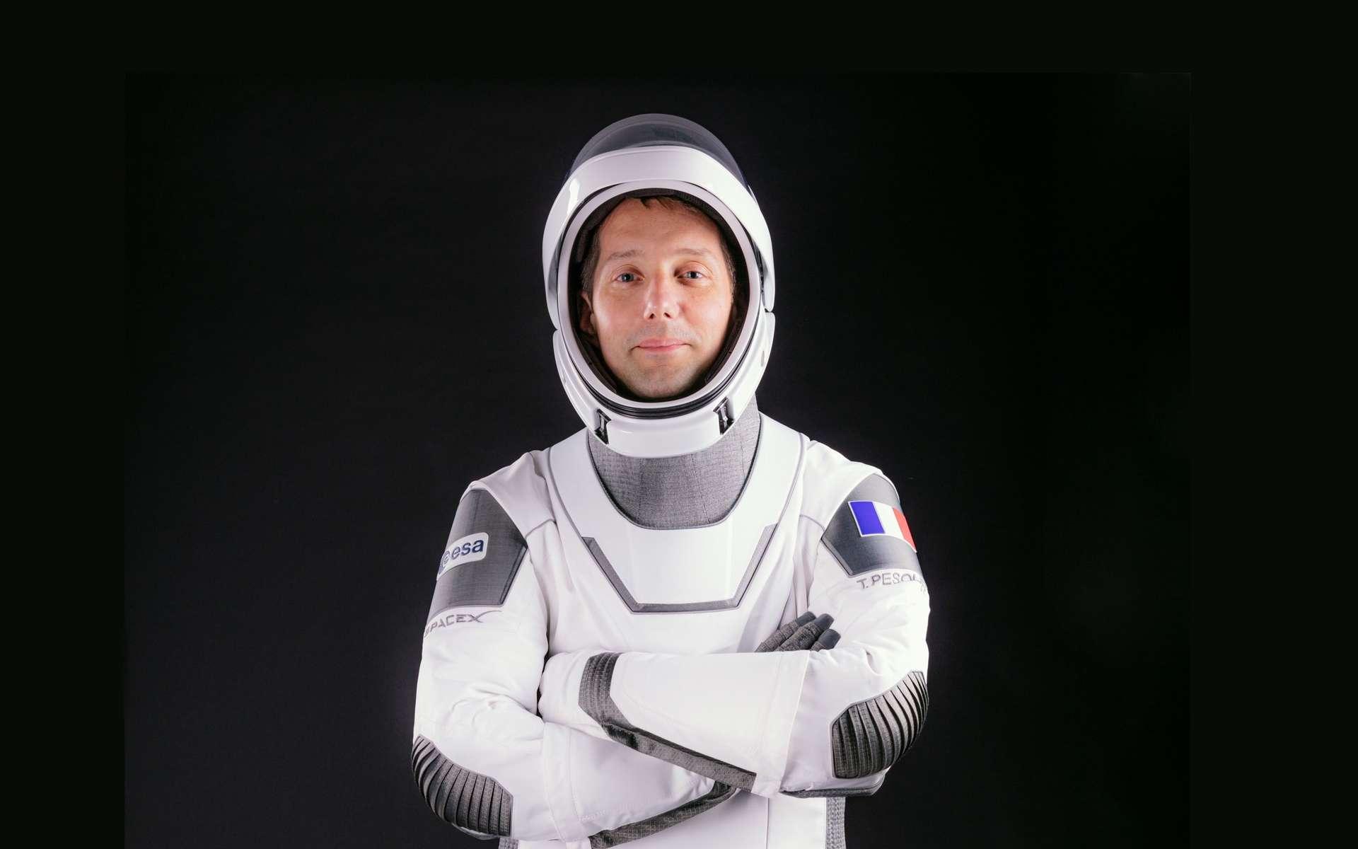 Thomas Pesquet vêtu de la Spacesuit de SpaceX. © Nasa, SpaceX