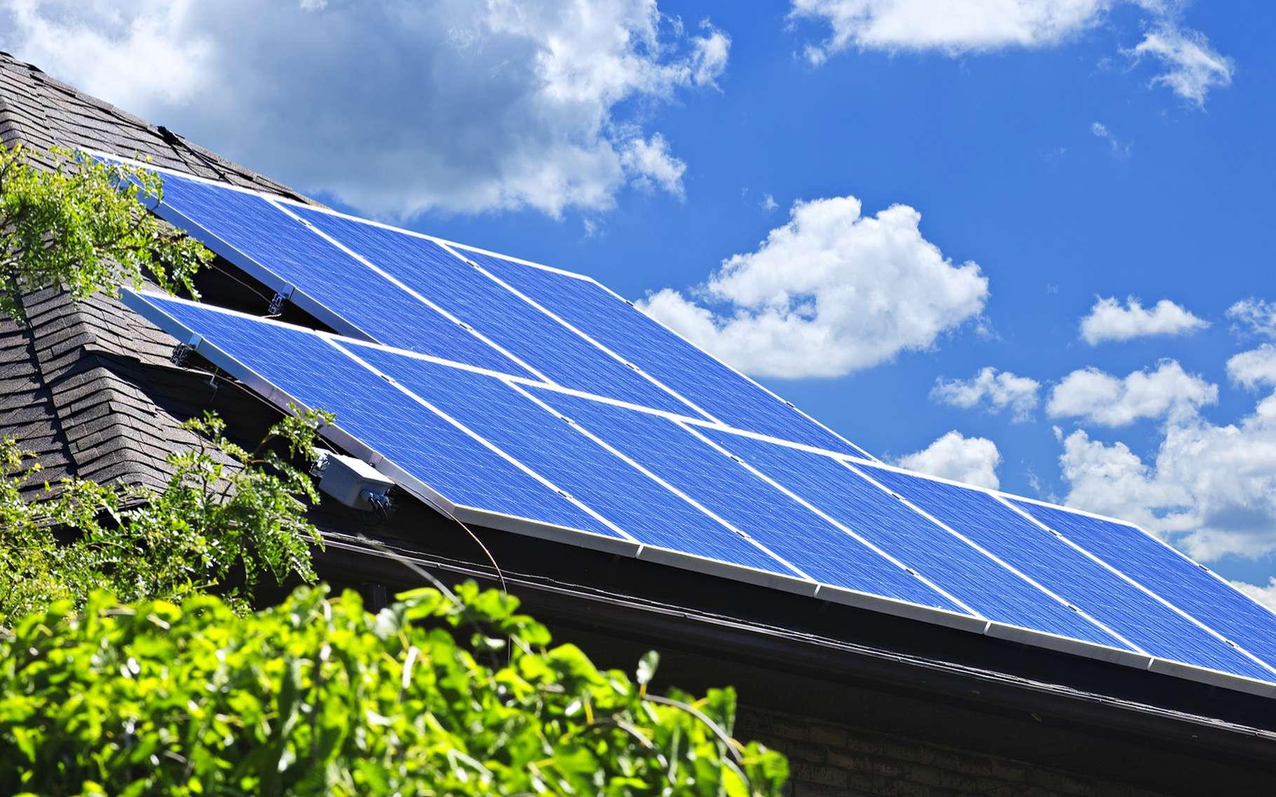 Via Tesla, notamment grâce à sa batterie Powerwall 2, Elon Musk se lance dans l'énergie solaire et les toits photovoltaïques. © Elena Elisseeva, Shutterstock