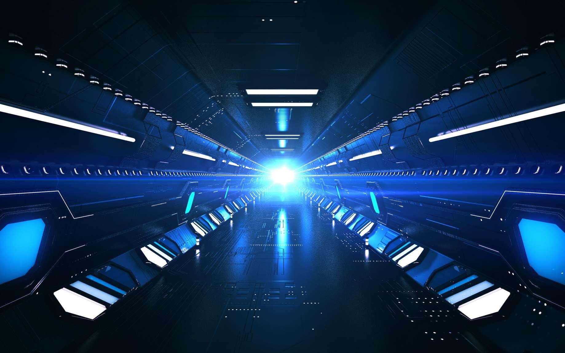 En combinant tunnels, Hyperloop et fusée Big Falcon Rocket de SpaceX, Elon Musk espère bâtir un transport planétaire ultrarapide. © klss777, Fotolia