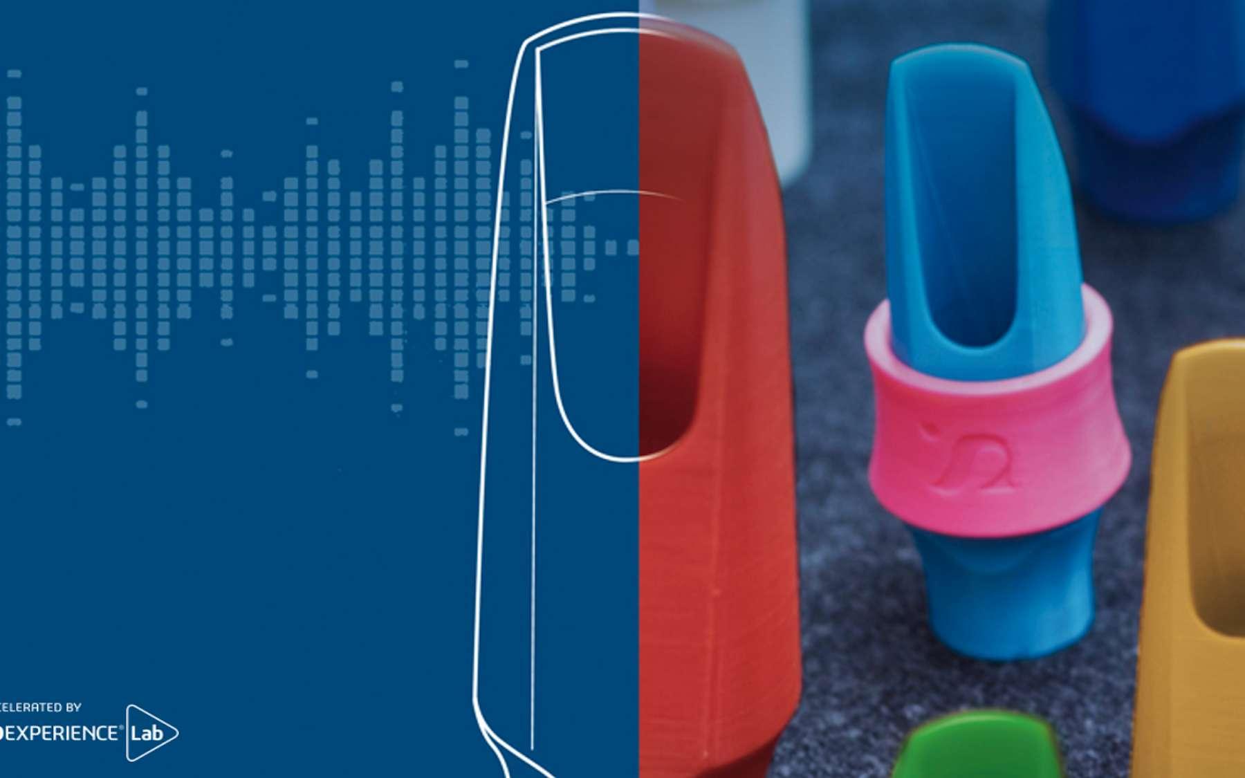 Syos conçoit des becs de saxophones et de clarinettes sur mesure et imprimés en 3D. © Dassault Système