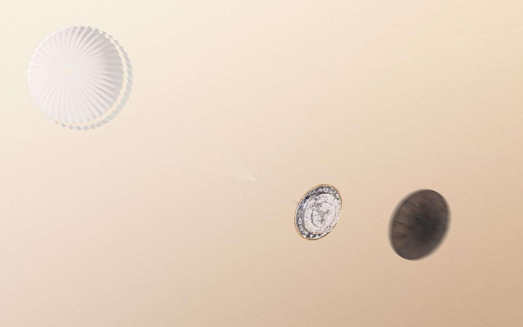 L'ordinateur de bord de Schiaparelli a peut-être été leurré par un bug logiciel qui lui a fait croire que le sol de Mars était tout proche. © ESA, ATG medialab