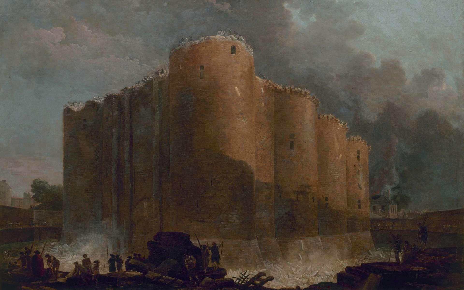 La Bastille dans les premiers jours de sa démolition, par Hubert Robert, le 20 juillet 1789. Musée Carnavalet, Paris. © Wikimedia Commons, domaine public.