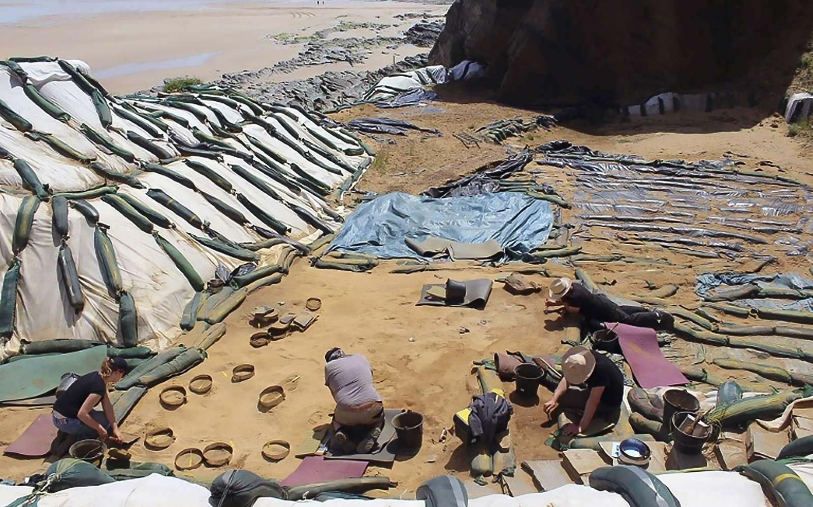 Les fouilles du site du Rozel, en France. © Dominique Cliquet, AFP