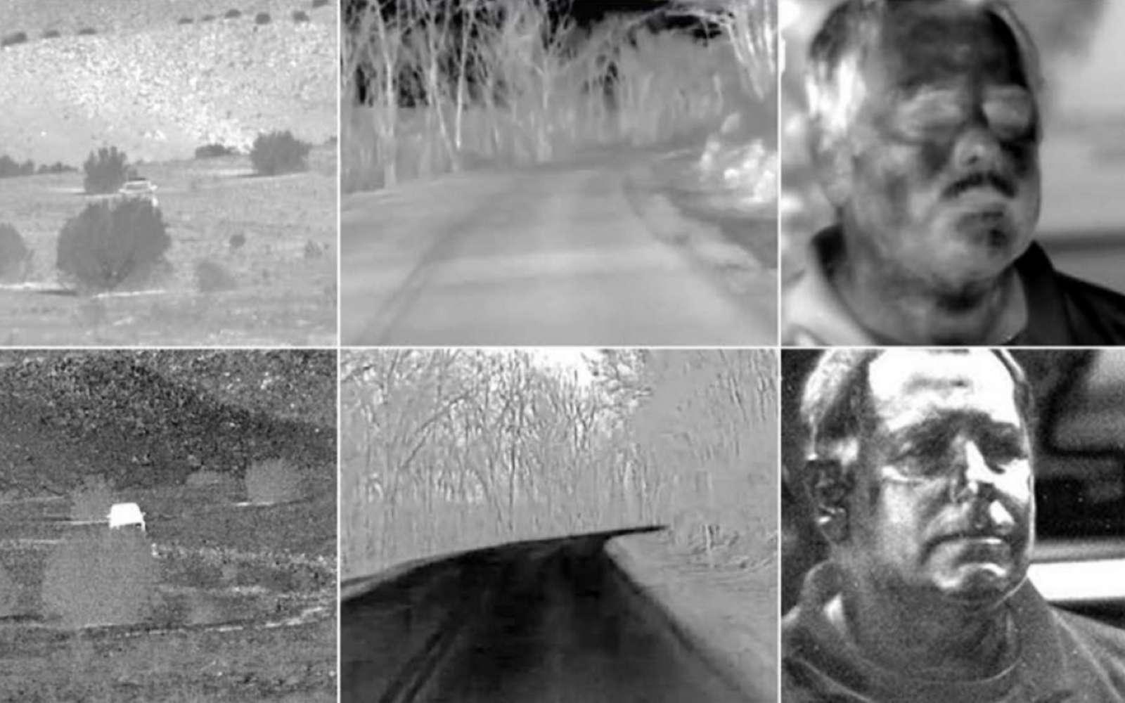 En utilisant une caméra thermique, la reconnaissance faciale peut être réalisée de nuit et à une très longue distance. © Polaris