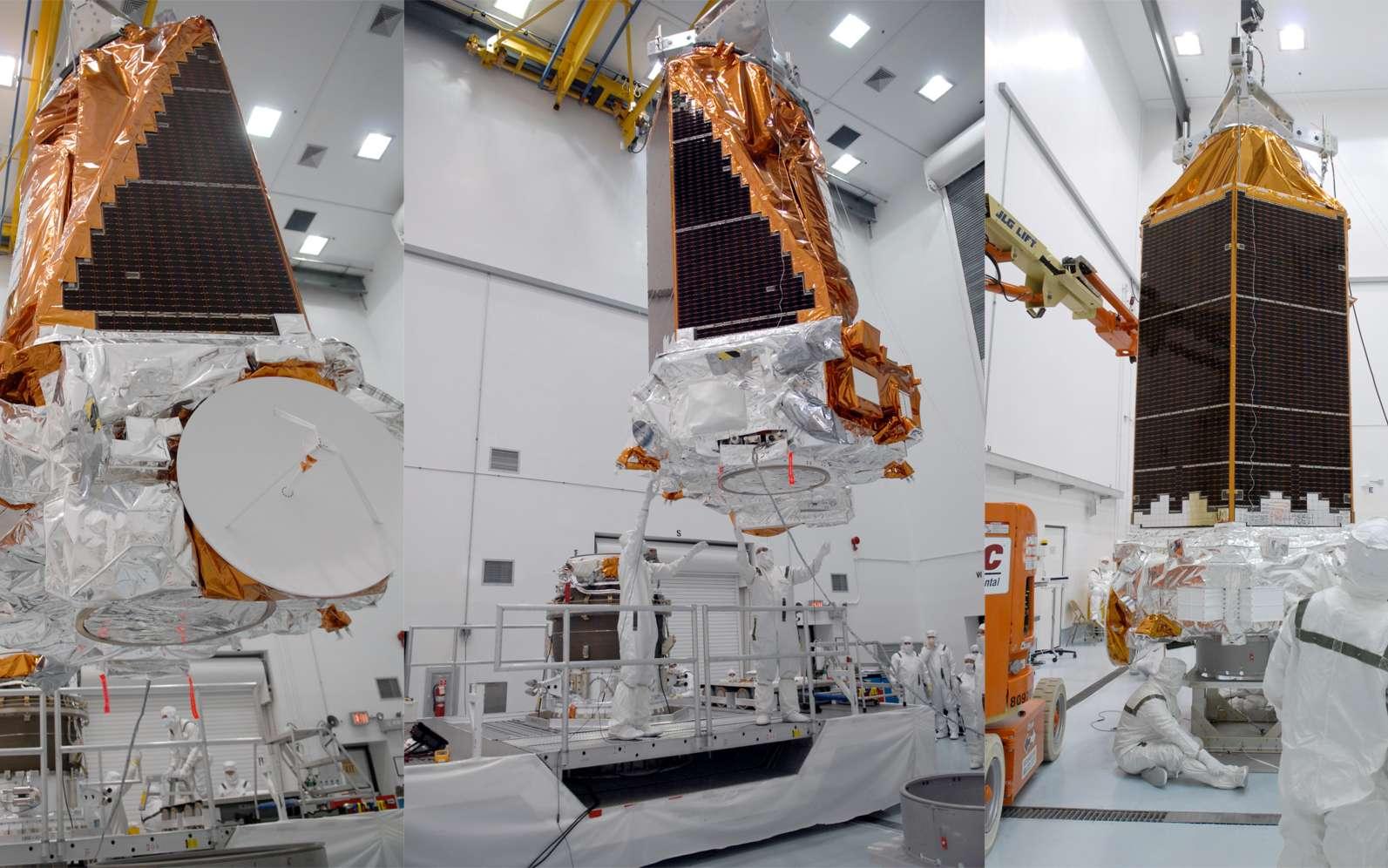 Le satellite Kepler au centre spatial Kennedy en février 2009, avant son lancement, le 7 mars 2009. © Nasa