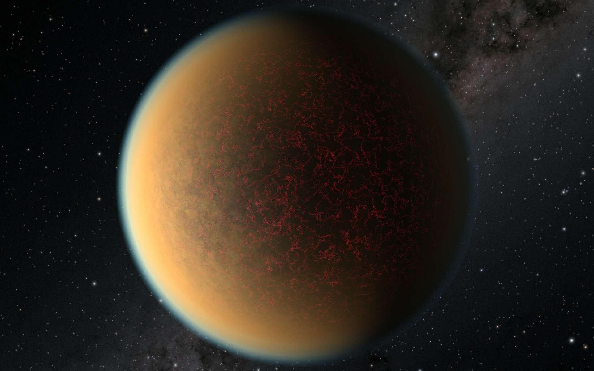 Cette image est une impression d'artiste de l'exoplanète GJ 1132 b. © Nasa, ESA, et R. Hurt (IPAC Caltech)