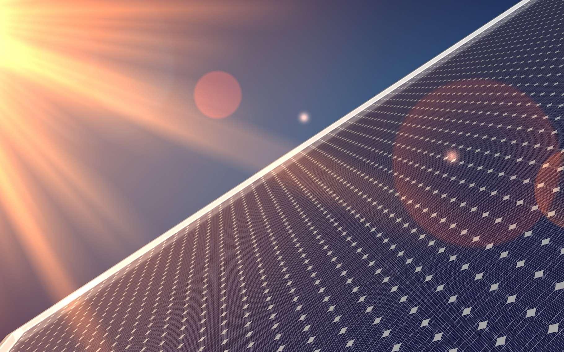 L'énergie solaire photovoltaïque est une énergie renouvelable et verte produite à partir de photons émis par le Soleil. © vegefox.com, Adobe Stock