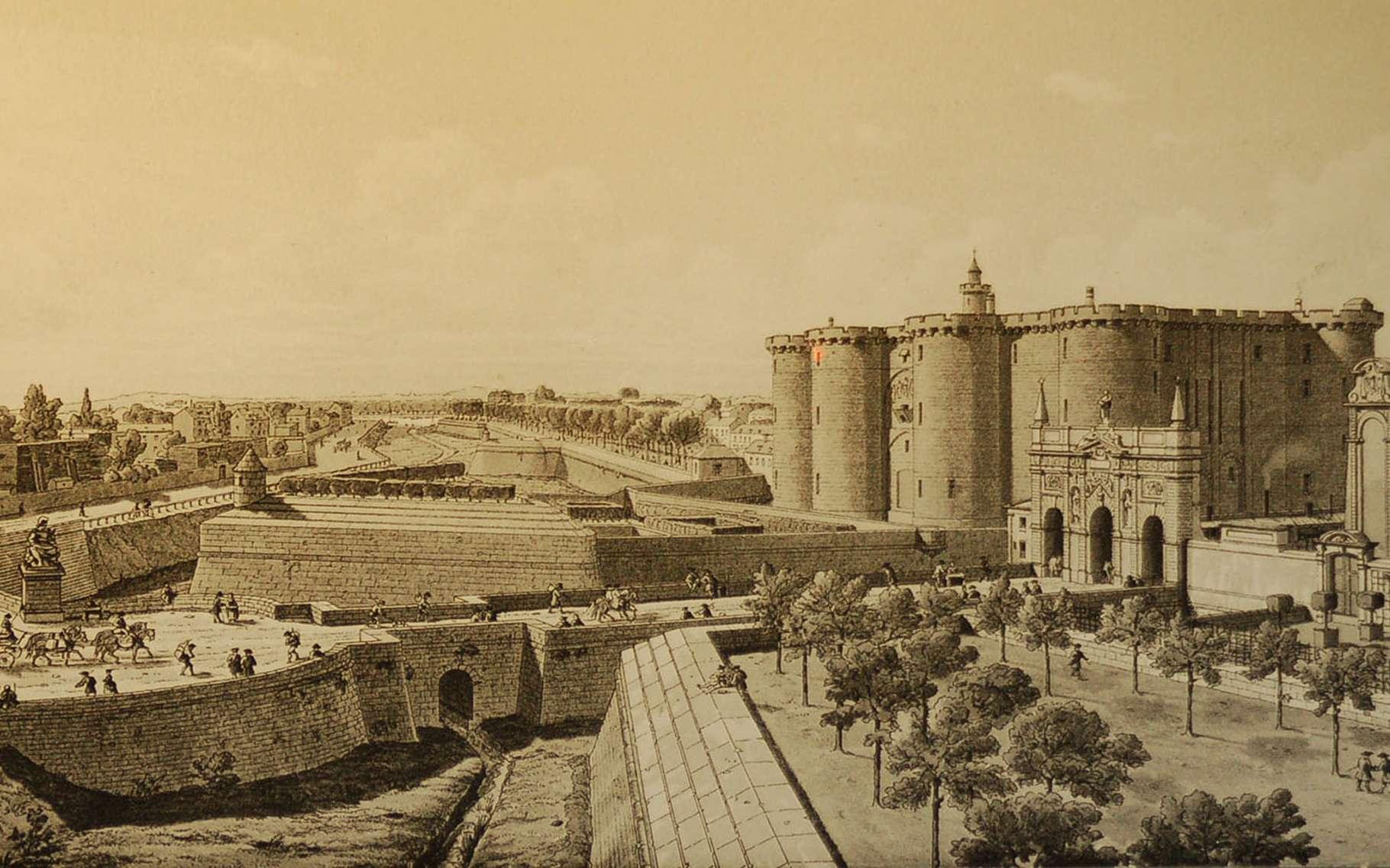 La Bastille avant sa destruction. © Wikimedia commons, DP