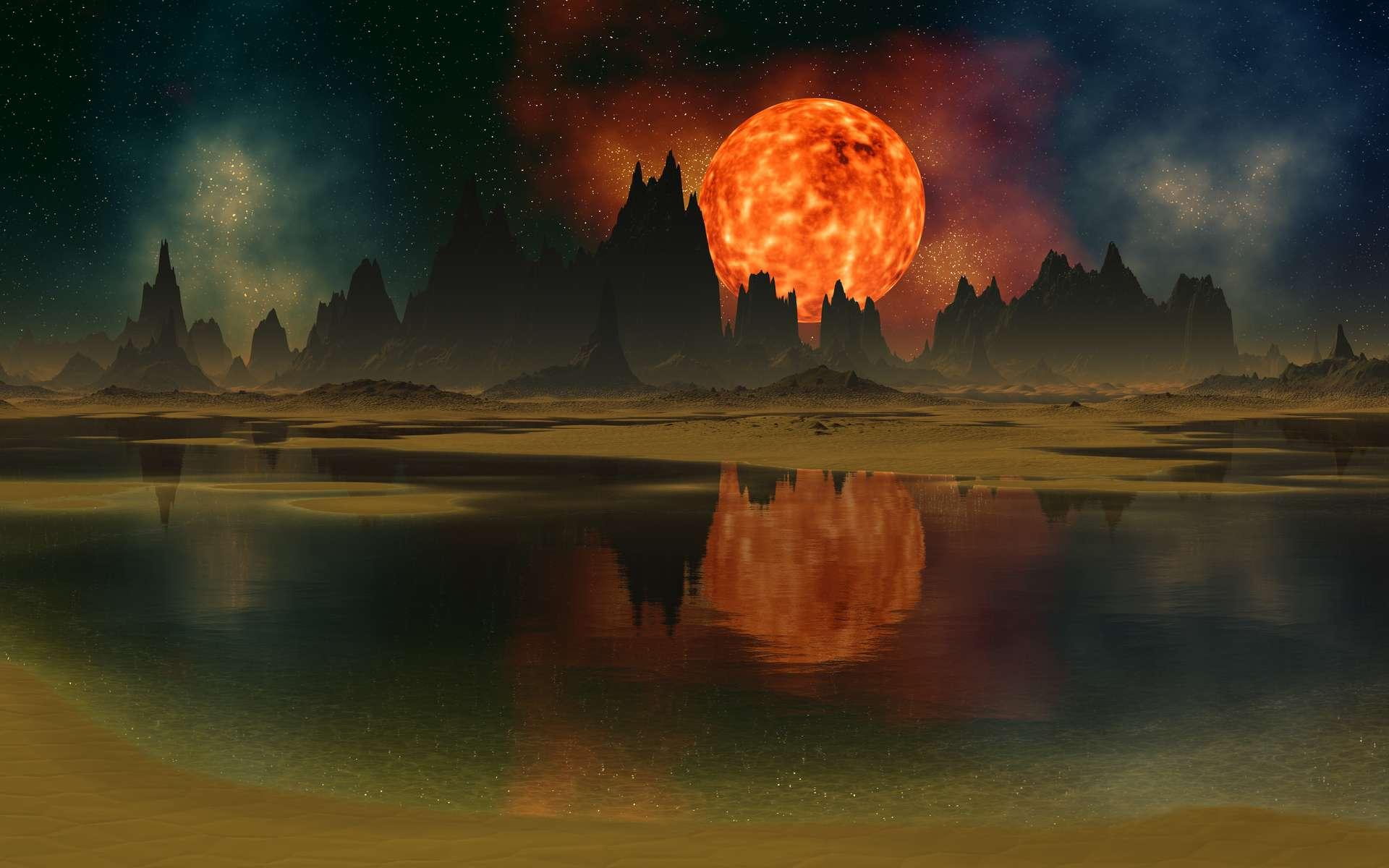 Un soleil mourant, un atmosphère irrespirable, un sol dévasté par la pollution. La Terre du futur est un désert stérile dont la destruction est imminente. © diversepixel, Adobe Stock