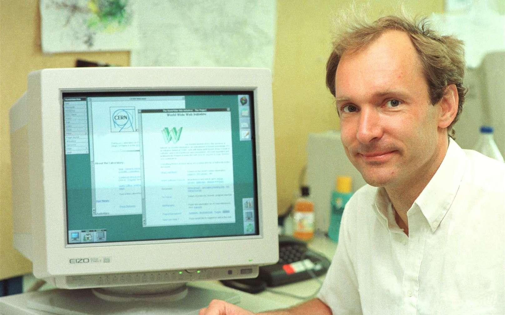 L'inventeur du Web vient de vendre aux enchères la version numérique du code source d'origine qu'il avait programmée en 1989. © Cern