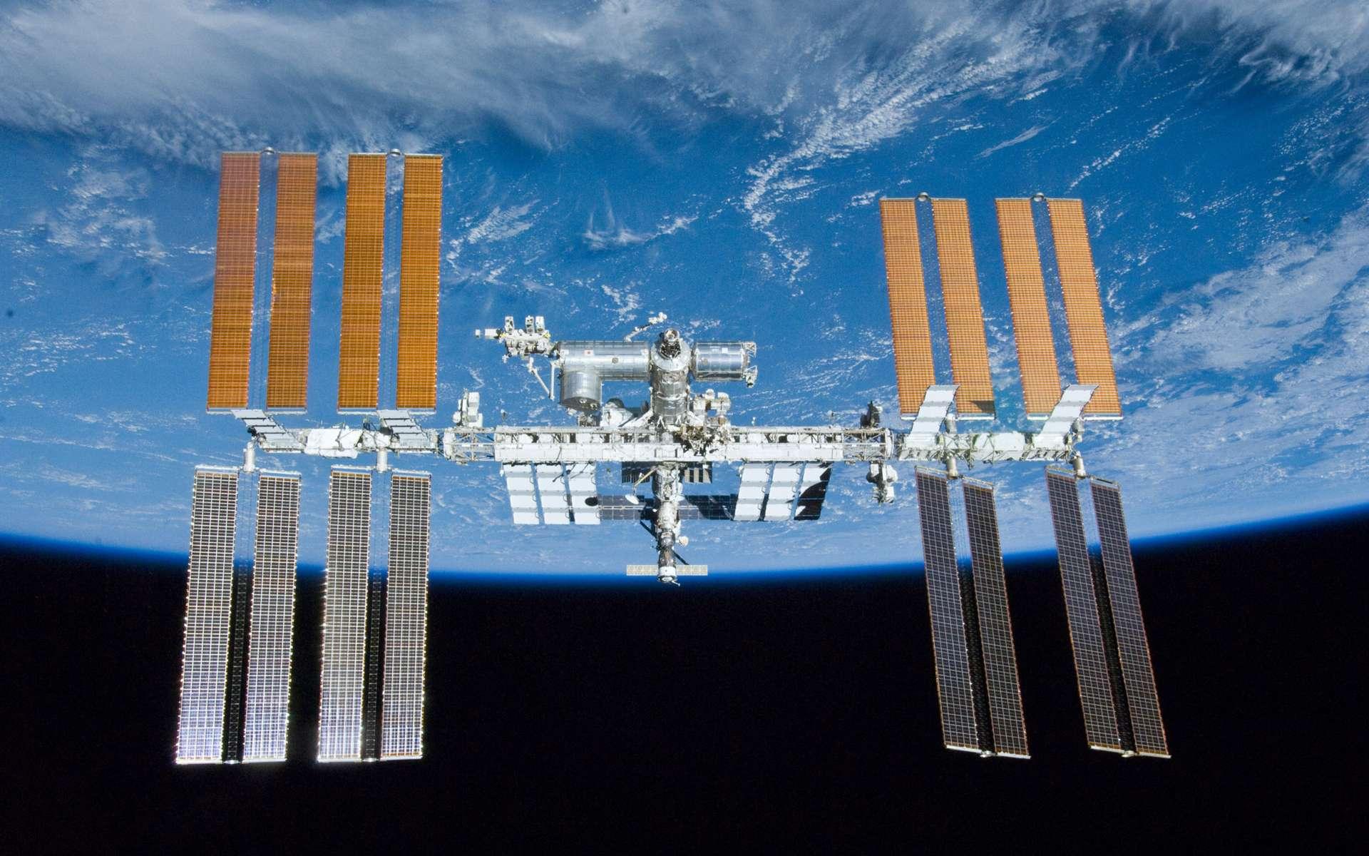 État d'avancement de la construction de la Station spatiale internationale à l'issue de la mission d'Atlantis, qui a volé pour la dernière fois en mai 2010 (STS-132). © Nasa