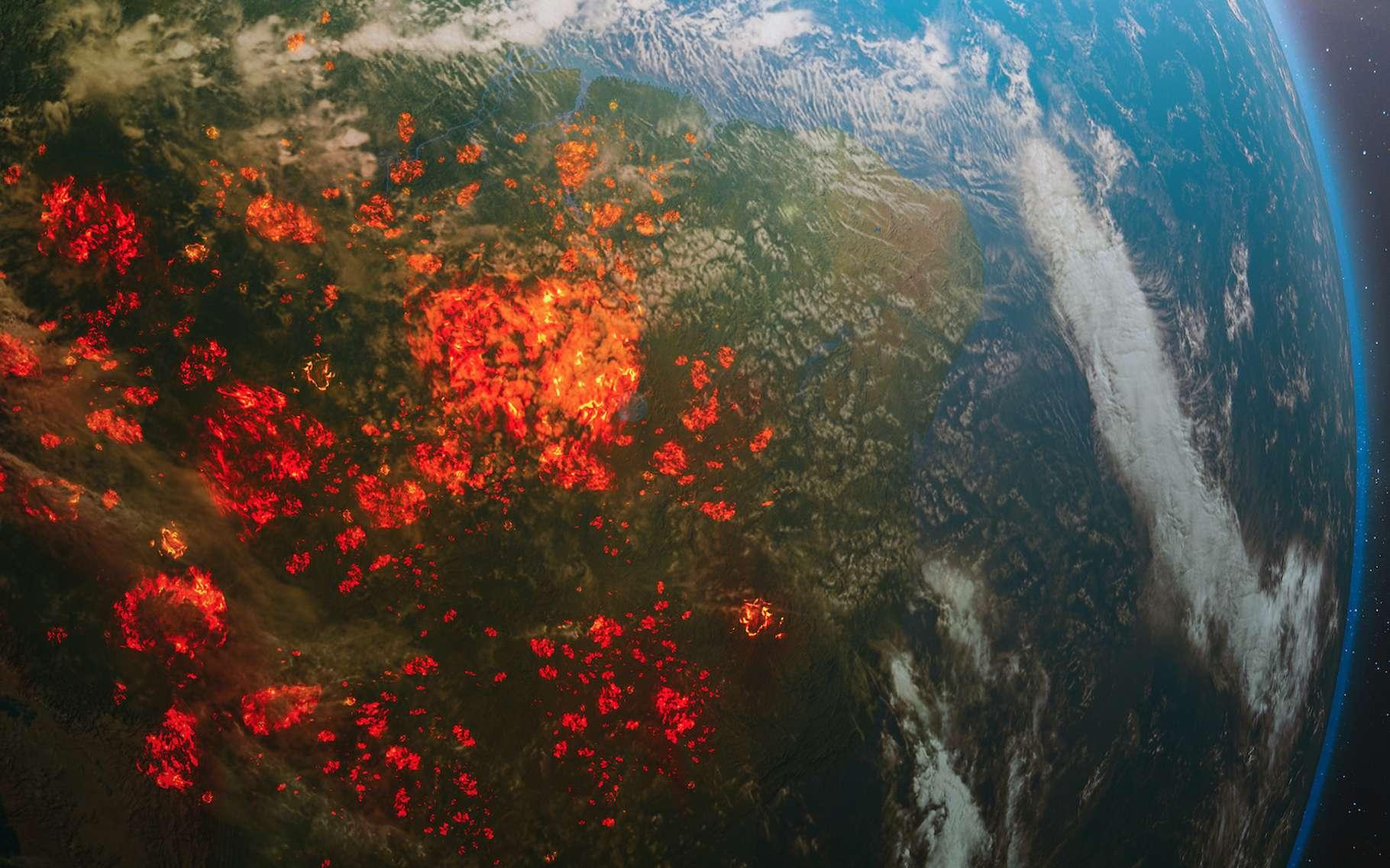 Avec le réchauffement climatique, partout sur notre Planète, les feux de forêt deviendront plus fréquents et plus intenses. © OSORIOartist, Adobe Stock