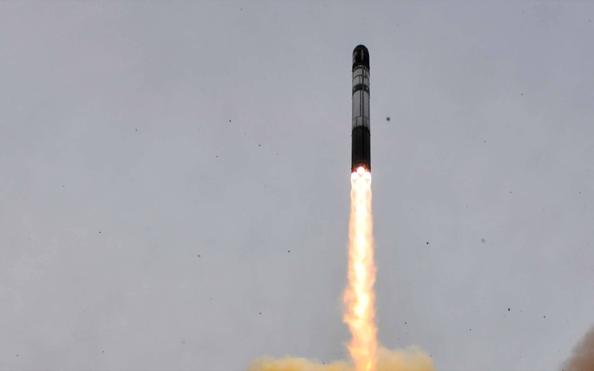 Décollage d'un lanceur Dnepr dérivé d'un missile Satan. © Esa, Stéphane Corvaja