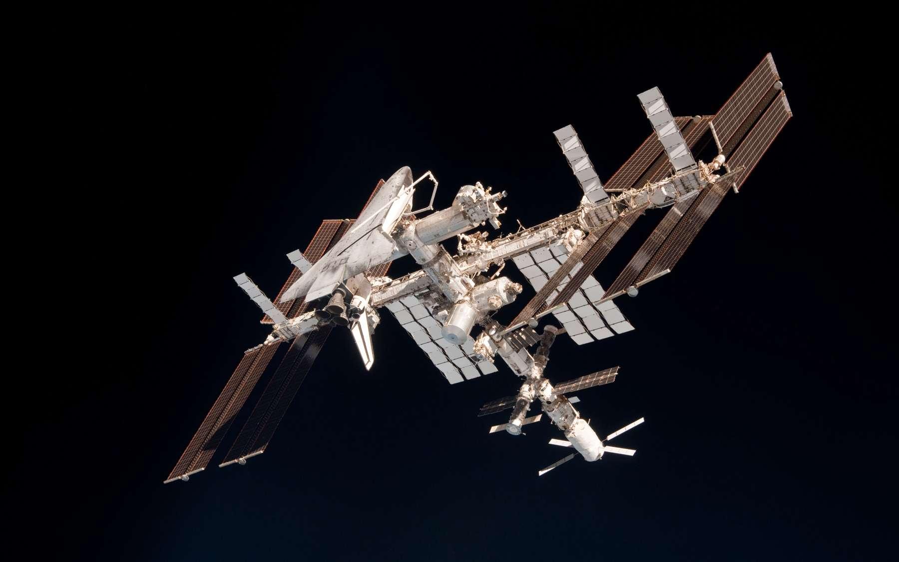 La durée de vie de la Station spatiale internationale a été prolongée de quatre années jusqu'en 2024. La Russie fera finalement partie de l'aventure jusqu'à cette date. © Nasa