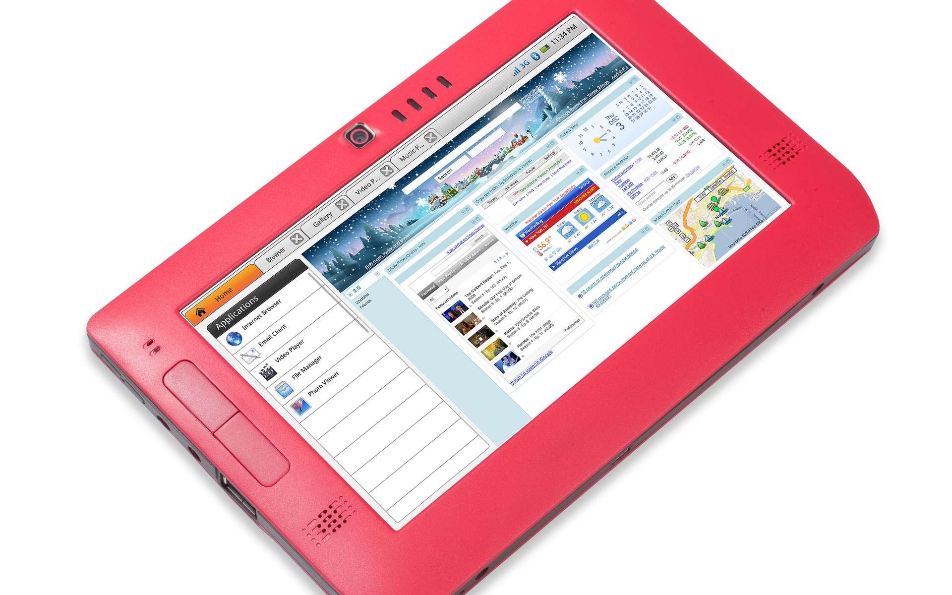 La Smartbook Tablet, de Freescale, démarre en quelques secondes et prend des photos. © DR