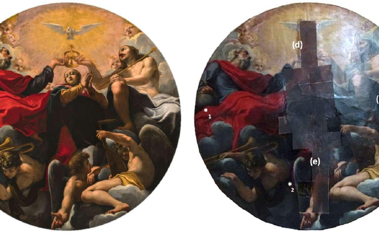 Le Couronnement de la Vierge, de Carlo Bononi, une huile sur toile de 1620. © 2018 Caselli et al, PLOS One