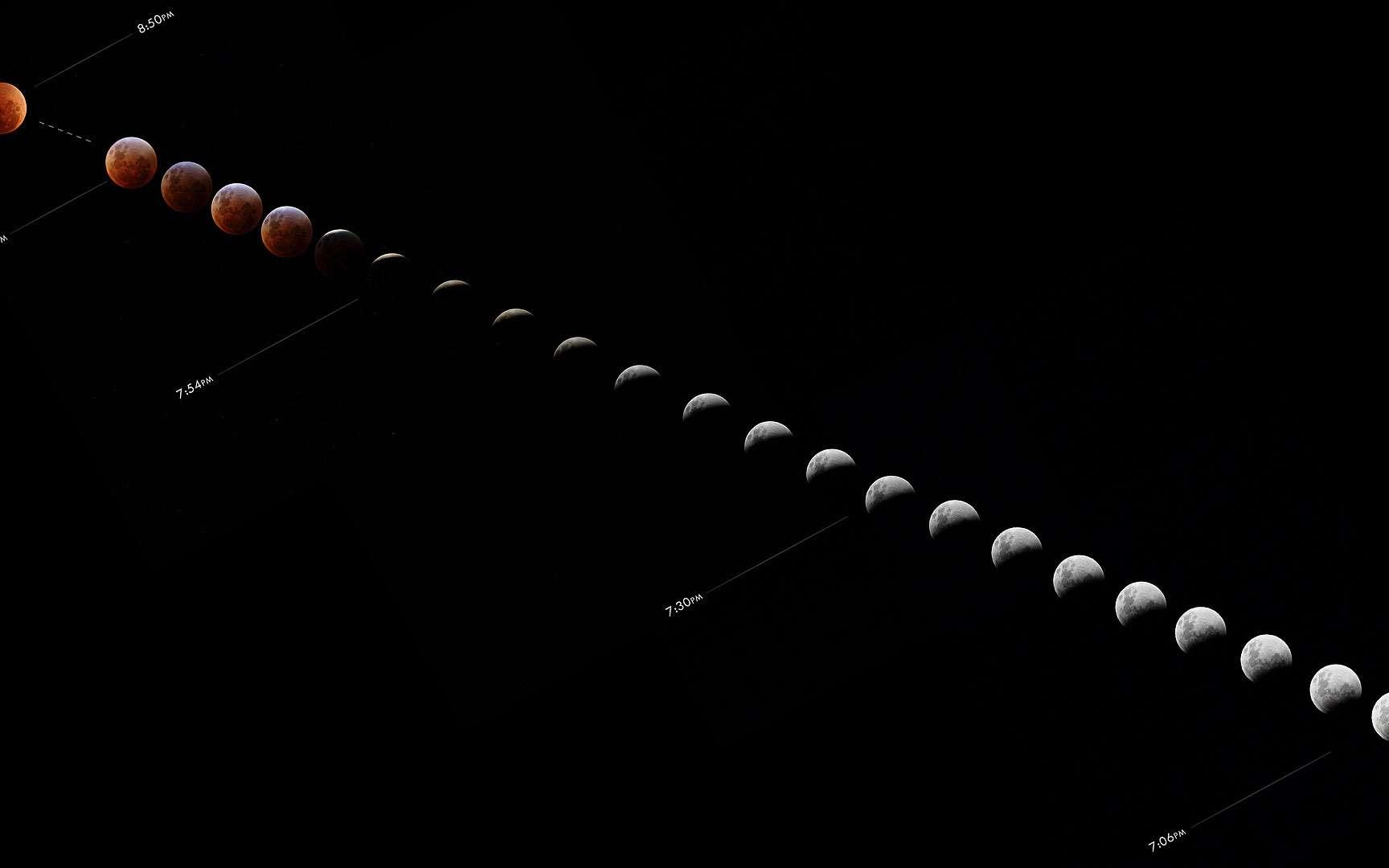L'Eclipse Totale de Lune du 28 Octobre 2004. Ferme de Richemont, à 25 km au sud de Bordeaux Ciel dégagé pendant l'entrée dans l'ombre, jusqu'au début de la totalité. Pendant la totalité: quelques courtes éclaircies permettant tout juste de faire des poses de 10s, puis ciel bouché empêchant de voir la fin de la totalité. Lunette Kepler 120/1000 motorisée, en suivi lunaire. Reflex argentique vivitar 3800N (mecanique) au foyer Film: centuria 200 iso Pose 10s, occultation manuelle ©Copyright - Jean-Baptiste GORDIEN. Tous droits réservés. http://www.astrosurf.com/astrojb