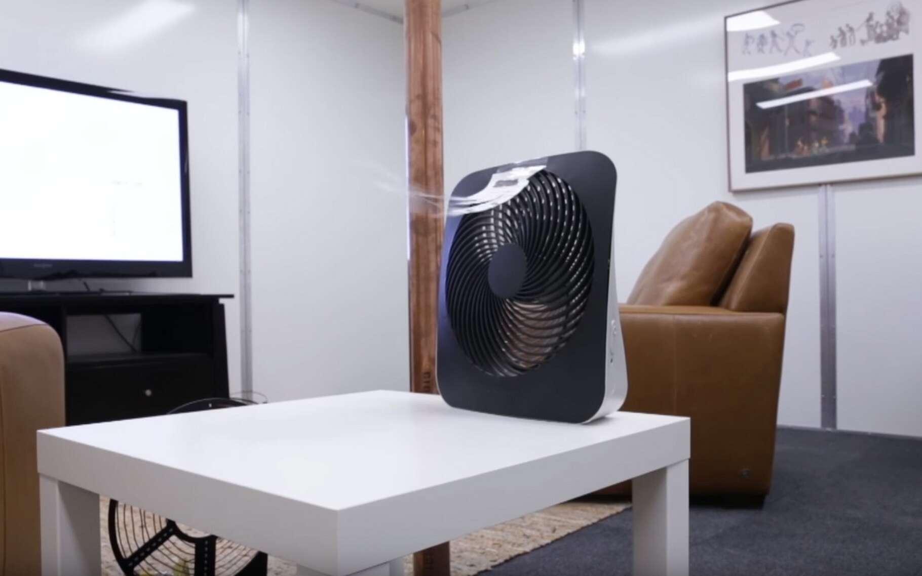 De la recharge sans fil en 3D simple comme le Wi-Fi : le ventilateur de 5 watts que l'on voit à l'image est alimenté par le champ magnétique environnant capté par une bobine réceptrice en cuivre. © Disney Research