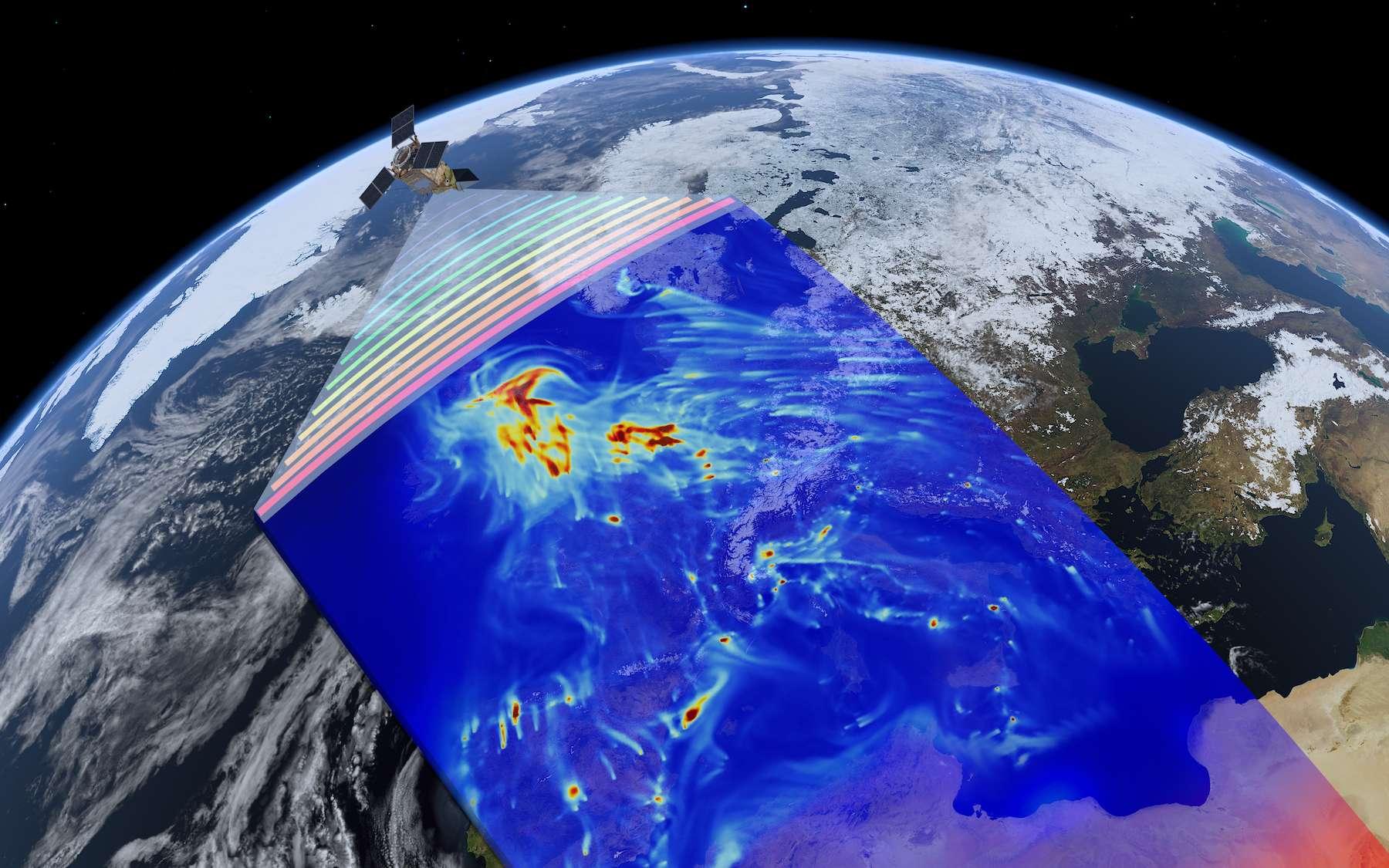 Le satellite Sentinel-5 de la mission Copernicus de l'Agence spatiale européenne chargé de mesurer les différents polluants au-dessus de la Terre. © ESA/ATG medialab