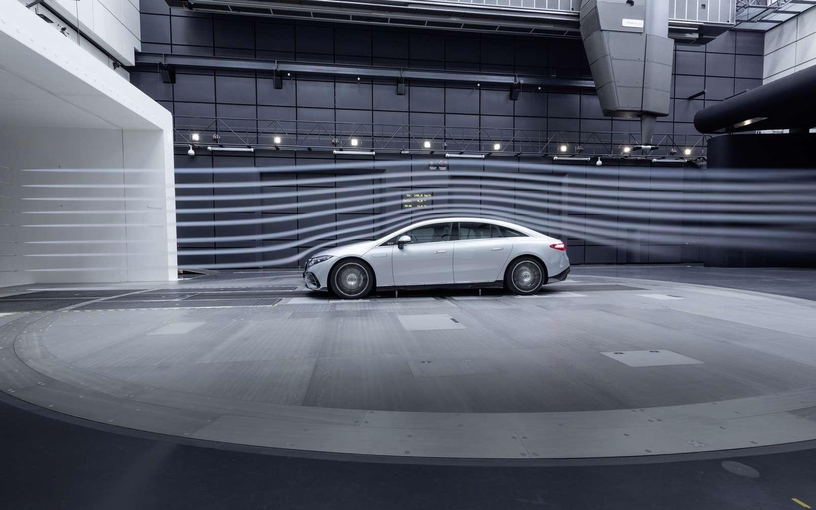 La Mercedes EQS est basée sur la plateforme EVA dont Mercedes va se servir pour sa gamme de voitures électriques. © Mercedes