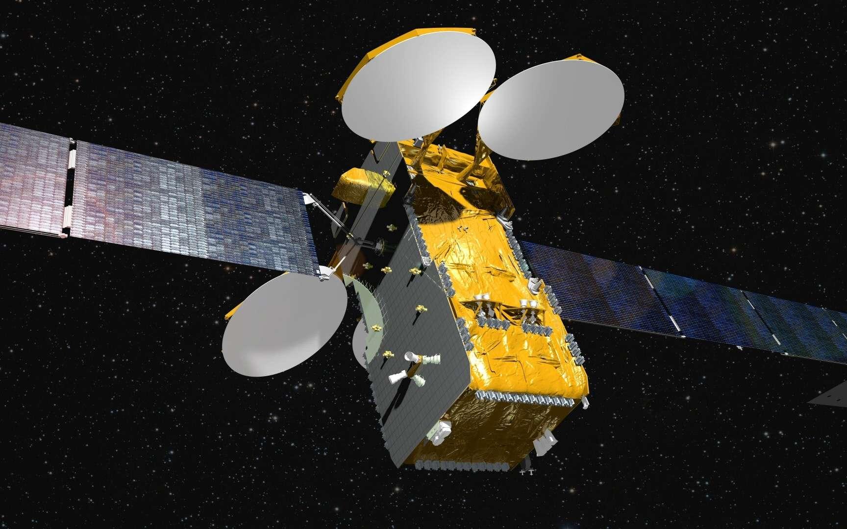 Le lancement de DirecTV-15 survient quarante ans après la construction d'OTS, le premier satellite de télécommunications d'Airbus Defence and Space. © Airbus Defence and Space
