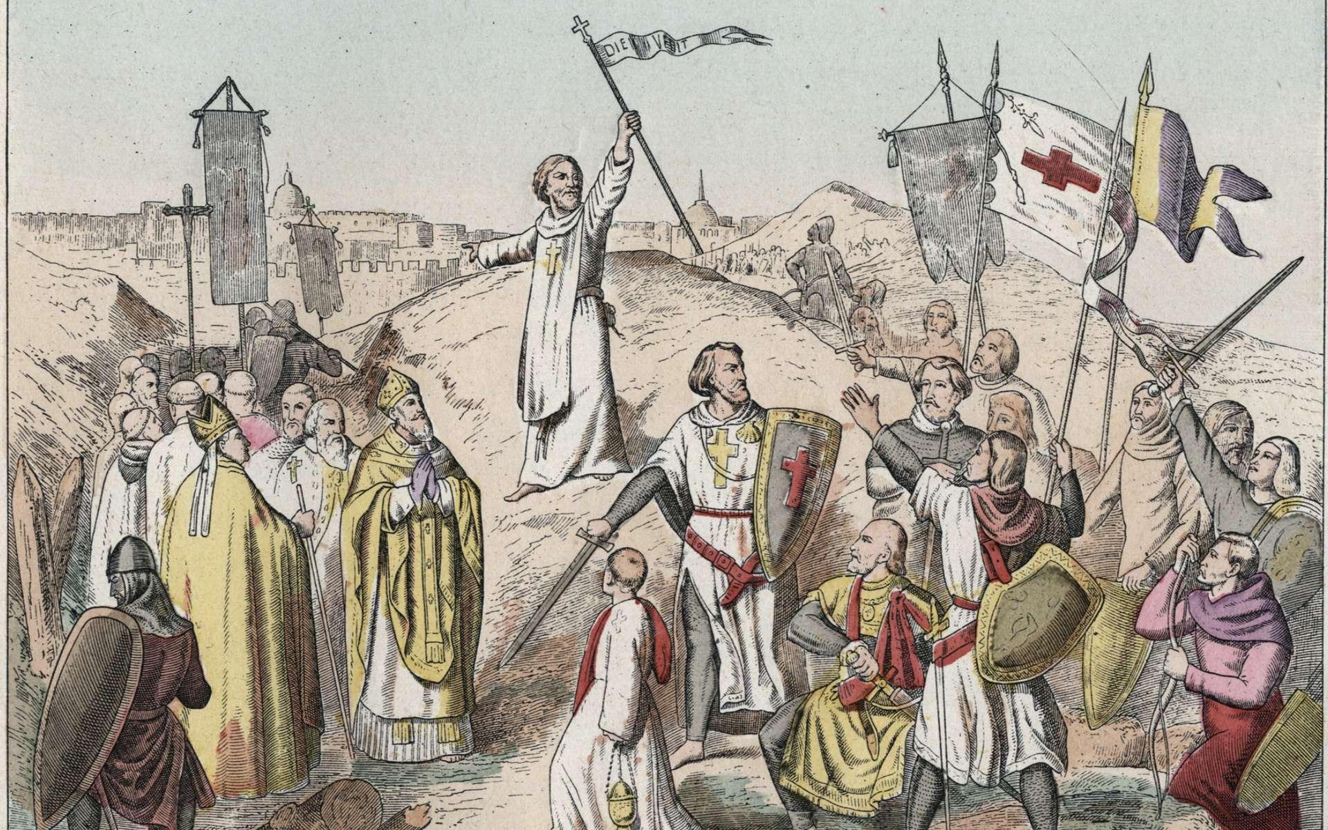 Première croisade : le siège et la prise de Jérusalem par les croisés menés par Godefroy. © RTS, Google images
