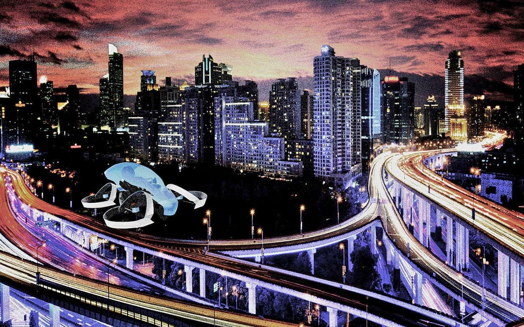 Le concept de voiture volante SkyDrive tel qu'imaginé par la start-up Cartivator. © Cartivator