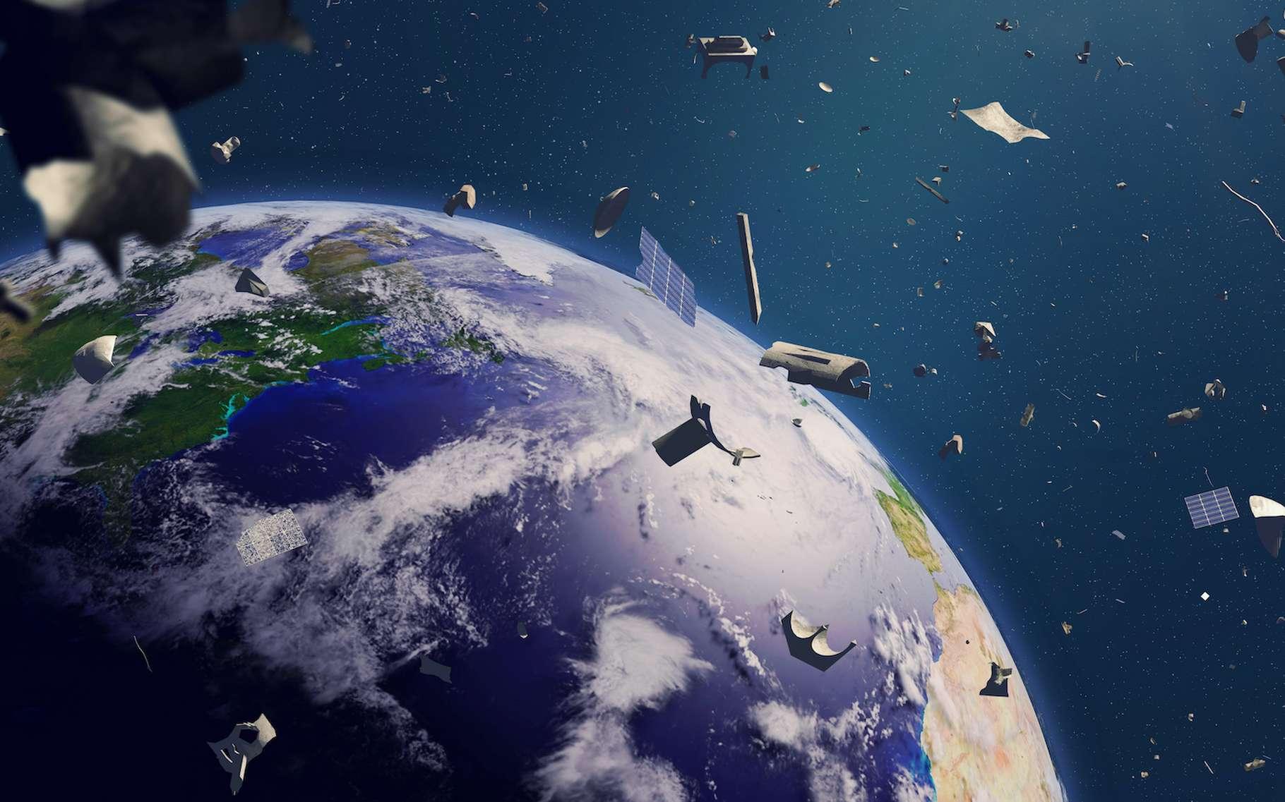 Certains débris spatiaux sont surveillés pour éviter les collisions. Mais d'autres sont trop petits pour être suivis. L'un d'eux vient de heurter la Station spatiale internationale (ISS). © dottedyeti, Adobe Stock