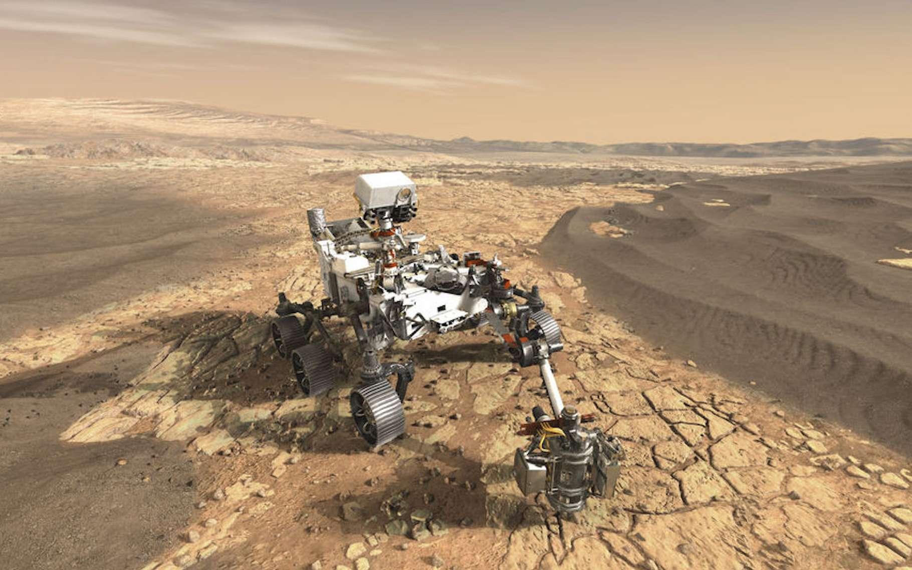 Le rover Perseverance de la Nasa a atterri sur Mars le 18 février 2021. © Nasa/JPL-Caltech