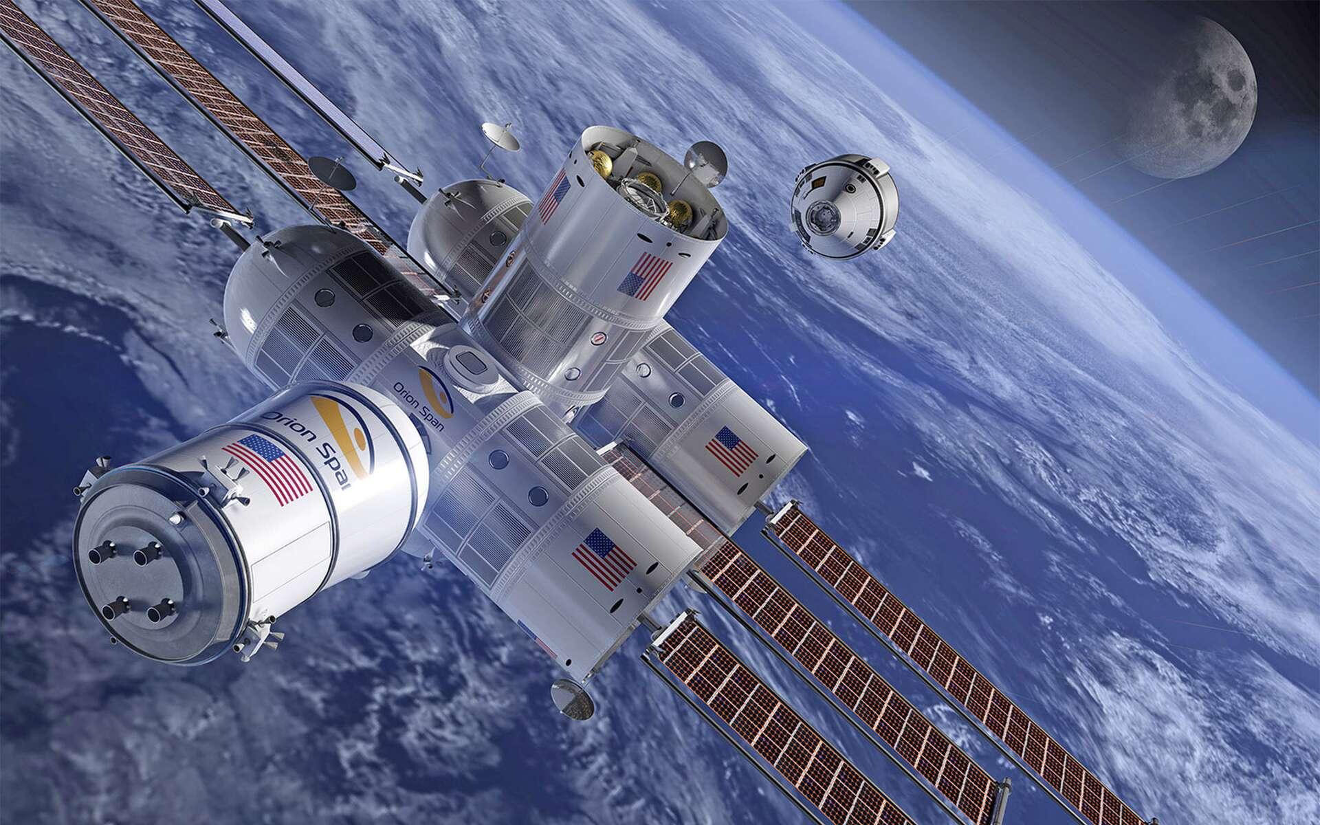 Dans un premier temps, l'hôtel spatial d'Orion Span pourra accueillir quatre clients. Si la demande est là, des modules supplémentaires seront ajoutés. © Orion Span