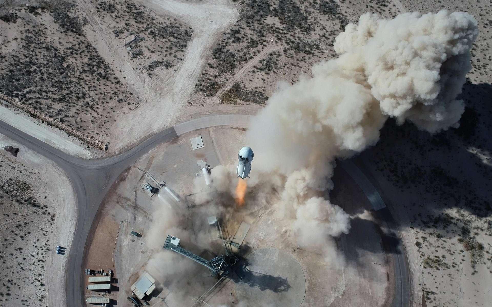 Décollage du New Shepard (NS-14) le 14 janvier 2021. © Blue Origin