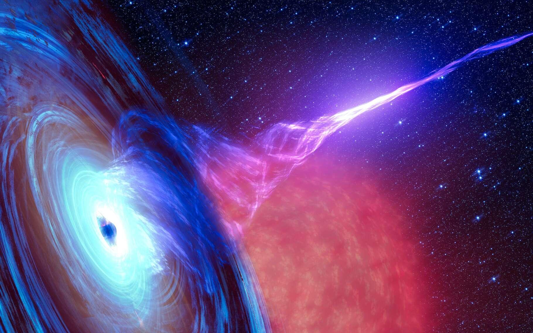 Des chercheurs de l'université de l'Arizona (États-Unis) ont étudié un événement de rupture par effet de marée qui se produit lorsqu'un trou noir avale une étoile. De quoi révéler quelques secrets du trou noir en question. © elen31, Adobe Stock