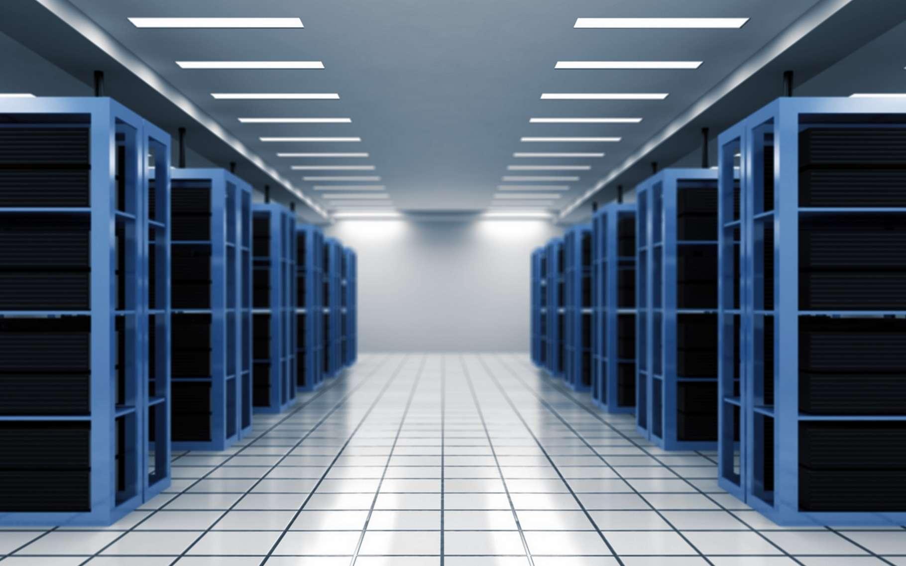 Certains data centers de grande envergure renferment des milliers de serveurs susceptibles d'héberger des centaines de téraoctets de données. © www.BillionPhotos.com, Shutterstock