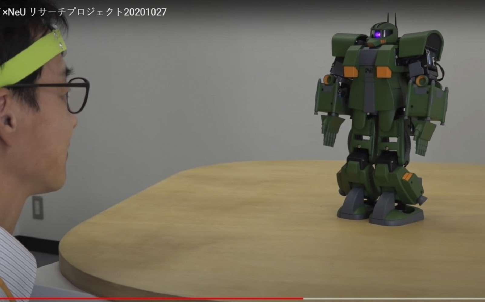 La société japonaise a crée une solution pour commander un robot grâce à l'activité cérébrale. © NeU, Youtube.com